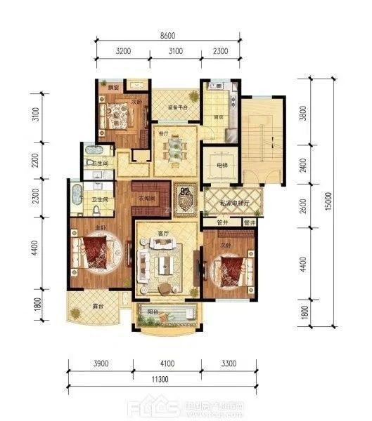 欧景名城  3室2厅  375万